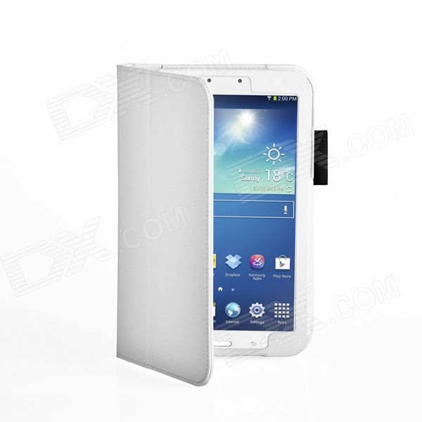 Protective PU Leather Case Cover Stand for Samsung Galaxy Tab 3 8.0 - White