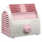 MFS-20 USB Powered Mini Bladeless 3-Mode Desktop Fan - White + Pink (2-Round-Pin Plug / 220V)