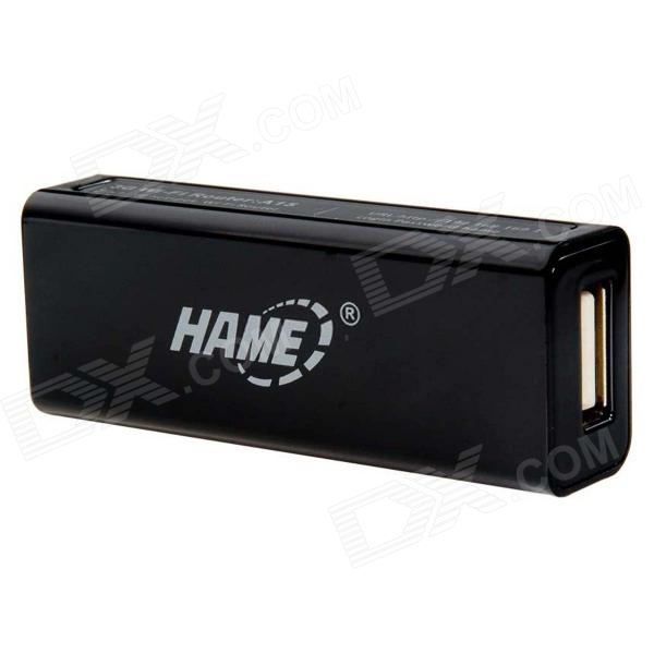 HAME A5 3G Wi-Fi IEEE802.11b/g/n 150Mbps Router / Hotspot - Black edup ep 9507n 2 4ghz wireless ieee802 11b g n 3g ap wi fi repeater adapter w 5000mah battery