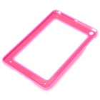 Protective ABS + Silicone Bumper Frame for Ipad MINI - Deep Pink