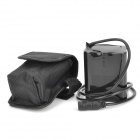 2-in-1 4500mAh Bicycle Battery Pack w/ Power Adapter Charger Set - Black