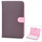 "Stylish Wire 80-Key Keyboard + PU Stand Cover Case for 7"" Tablet PC w/ Micro USB - Pink + Black"