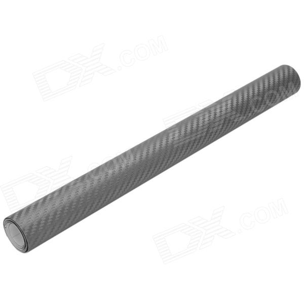 3D Carbon Fiber Paper Decoration Sheet Car Sticker - Deep Grey (30 x 127cm)