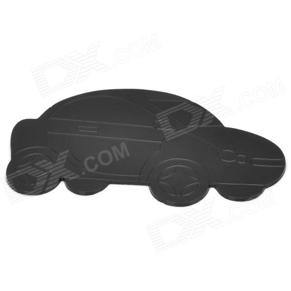 QC33 Car Shape Rubber Anti-Slip Mat Pad - Black