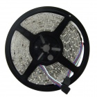 Waterproof 40W 1500lm 300-SMD 3528 LED RGB Light Strip w/ 24-Key Remote Controller - White + Black