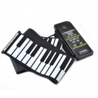 CHEERLINK MD-88 88-Key Digital Portable Hand-Rolling Piano w/ MIDI - Black + White (3 x AA)