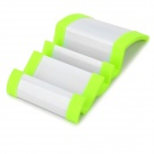 P6 Wave Shaped Stand for Iphone + Samsung + More - Fluorescent Green + White