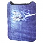 Cool Denim Style Protective Soft Nylon Anti-Shock Bag for Ipad 4 - Blue