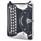 Retro Typewriter Pattern Shock-proof Water-resisting Soft Nylon Protective Pouch for Ipad - Black