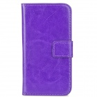 Stylish Protective PU Leather Case w/ Card Holder Slots for Iphone 4 / 4S - Purple