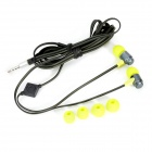Wallytech WHF-116 In-Ear Earphone w / microfone para Iphone / Ipad / Samsung - Verde Fluorescente