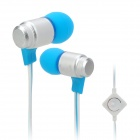 Wallytech WHF-116 In-Ear Earphone w/ Microphone for Iphone / Ipad / Ipod / Samsung / HTC - Blue
