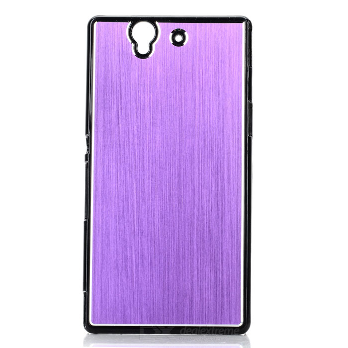 Stylish Brushed Metal Aluminum Alloy Protective Back Case for Sony Xperia Z / L36H / C6603 - Purple футболка zoo york z black purple
