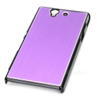 Stylish Brushed Metal Aluminum Alloy Protective Back Case for Sony Xperia Z / L36H / C6603 - Purple