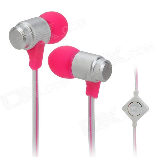 Wallytech WHF-116 In-Ear Earphone w/ Microphone for Iphone / Ipad / Ipod / Samsung / HTC - Deep Pink kz ed8m earphone 3 5mm jack hifi earphones in ear headphones with microphone hands free auricolare for phone auriculares sport