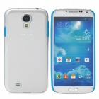 Fashionable 2-in-1 Protective PC + TPU Back Case for Samsung Galaxy S4 i9500 - Blue + Transparent