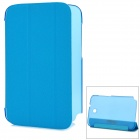 Ultra-Slim Plastic + PU Leather Stand Case for Samsung Note 8.0 / N5100 / N5110 - Blue