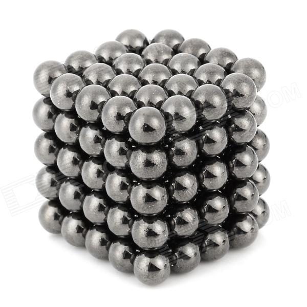 DIY 5mm Buckyballs NdFeB Magnetic Magic Beads - Deep Grey (125PCS)