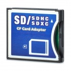 SDHC / SDXC to CF Memory Card Adapter - Black + White