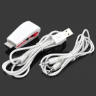 HDMI Male to VGA Female Adapter w/ Audio - White + Red