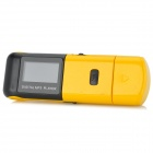 "KD-MP3-03-DAIPING-HUANGSE 1"" Screen Digital MP3 Player w/ Earphone / TF - Black + Yellow"