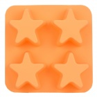 GEL62809 Creative 4-Star Pattern Cups Silicone Food Ice Mold - Orange