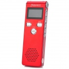 "Tsinghua TongFang TF-18 1"" Screen Professional Digital Voice Recorder Pen - Red + Silver (8 GB)"
