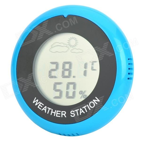 "Hongyang T18040 1.5"" LCD Weather Forecast Thermometer / Hygrometer - Blue + Black Downey Прокупка по объявлению"