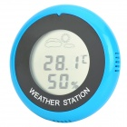 "Hongyang T18040 1.5"" LCD Weather Forecast Thermometer / Hygrometer - Blue + Black"