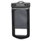 PVC Waterproof Bag w./ Arm Band + Strap for Samsung GALAXY S4/I9500 - Black