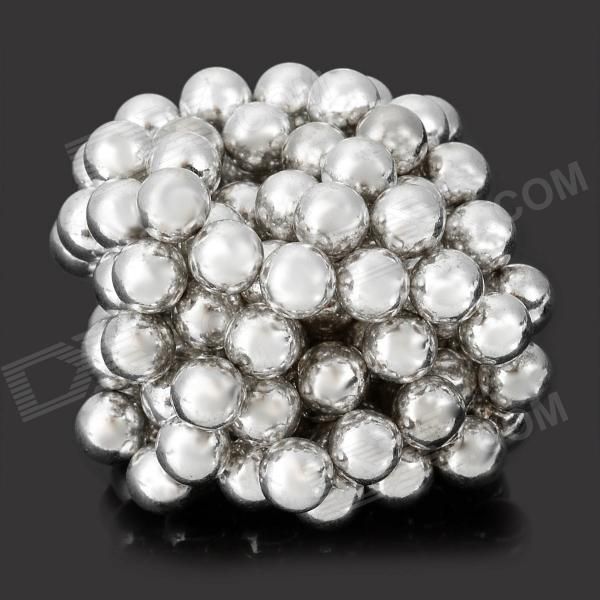 DIY 5mm Buckyballs NdFeB Magnetic Magic Beads - White (125 PCS) diy 5mm buckyballs ndfeb magnetic magic beads deep grey 125 pcs