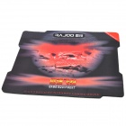 RAJOO Fiber + Rubber Thicken Professional Gaming Mouse Pad - Black + Red