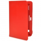 "Lichee Pattern 7"" Protects PU Leather Flip-Open Case w/ Holes for Tablet - Red"