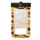 PVC Waterproof Bag w./ Arm Band + Strap for Samsung Galaxy I9300 / I9500 - Camouflage Yellow + Black