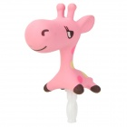 Cute Giraffe Style 3.5mm Audio Jack Anti-Dust Plug for Iphone / Cell Phone - Pink