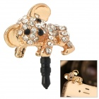 Strass Koala Stil 3,5 mm Audio Jack Anti-Staub-Stecker für iPhone / Handy - Goldene