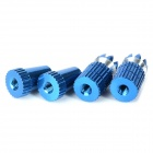 Futaba R/C Model 3mm Remote Control Metal Rocker - Blue (4 PCS)