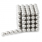 DIY 5mm Buckyballs NdFeB Magnetic Magic Beads - Silver (125 PCS)