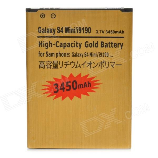 3450mAh Rechargeable Battery for Samsung Galaxy S4 Mini - Golden