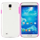 Fashionable 2-in-1 Protective PC + TPU Back Case for Samsung Galaxy S4 i9500 - Pink + Transparent