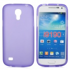 Stylish Flexible TPU Protective Back Case for Samsung Galaxy S4 Mini i9190 - Purple