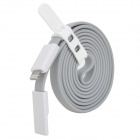 USB to 8-Pin Lightning Data / Charging Cable w/ Cable Tie for iPhone 5 / iPad Mini - Grey