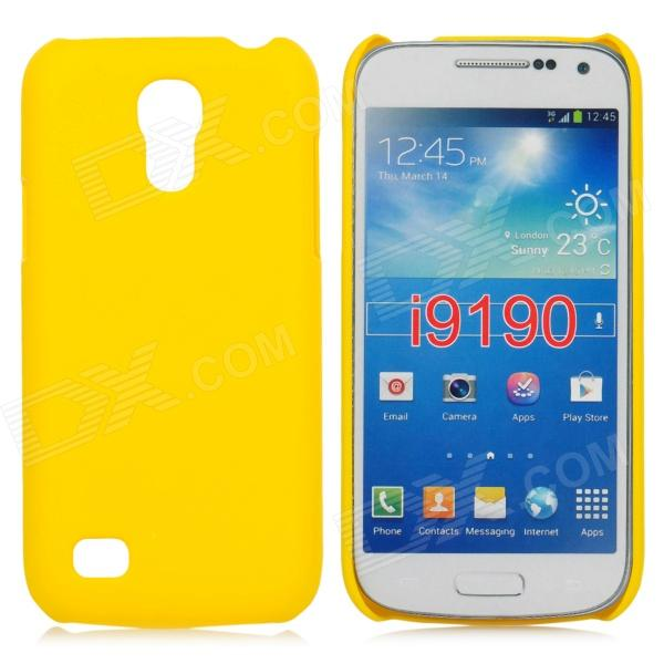 Stylish Protective Matte Frosted PC Back Case for Samsung Galaxy S4 Mini - Yellow protective hollow out matte pc back case for samsung galaxy s4 zoom sm c1010 blue