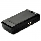 USB Battery Charger + 3.7V 2800mAh Replacement Battery for Samsung GALAXY S4 MINI - Black (US Plug)
