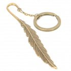 Retro Feather Style Zinc Alloy Keychain - Bronze