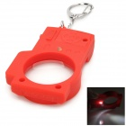 WL1284 Plastic Mini Camera Style Keyring / Magnifier / Flashlight w/ 1-LED White Light - Red