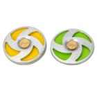 Rotating Home Button Sticker for Iphone / Ipad / Ipod Touch - Yellow + Green (2 PCS)