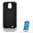 3200mAh Rechargeable External Battery Case for Samsung i9500 - Blue + Silver + Black