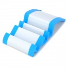 Wave Style ABS Cell Phone Stand for Iphone / Ipad - White + Blue