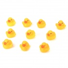 Funny Floating Duck Bath Toy w/ Sound Effect for Kids - Yellow (10 PCS)